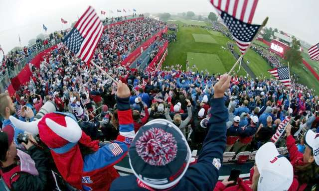 Fans at the Ryder Cup Golf Tournament